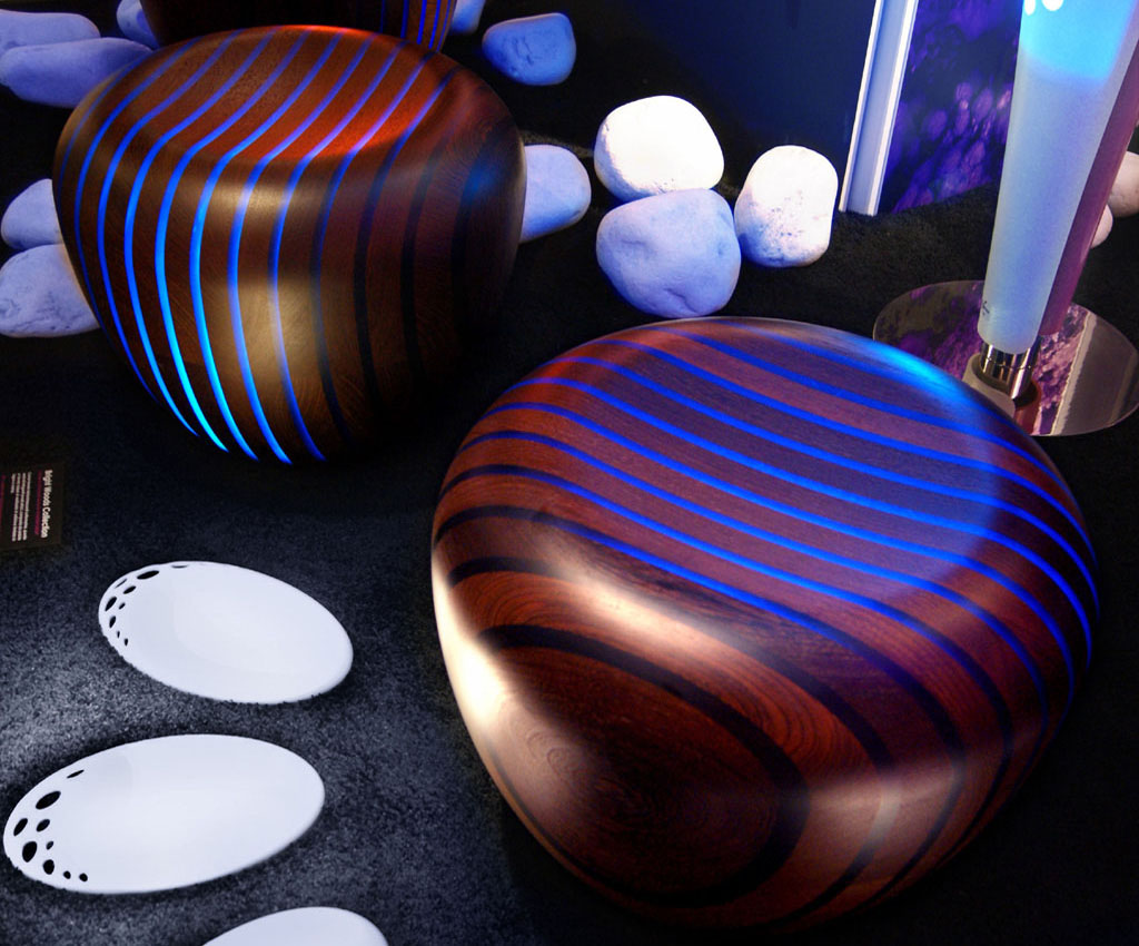 Led Backlit Furniture in Wood & Resin | Bright Woods Collection